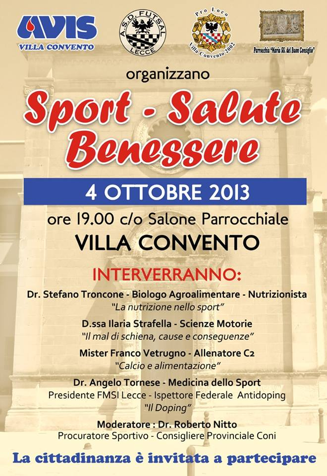 Sport Salute E Benessere Un Convegno A Villa Convento Paisemiu