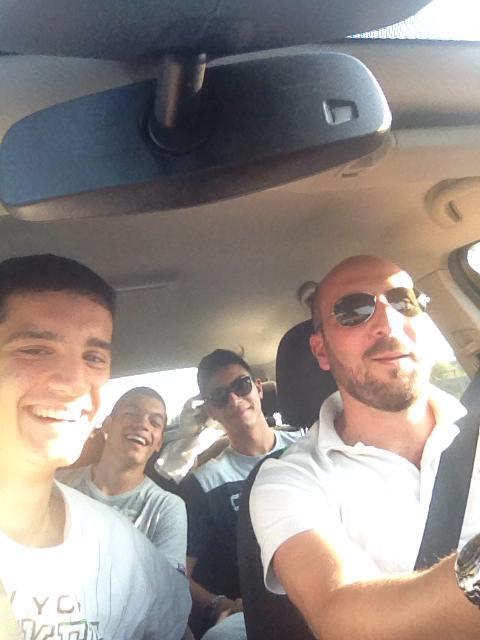 I giovani giallorossi in viaggio verso Sorrento