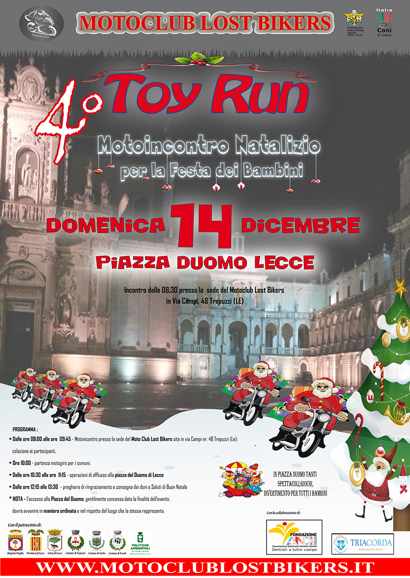 4 TOY RUN LOST BIKERS A3