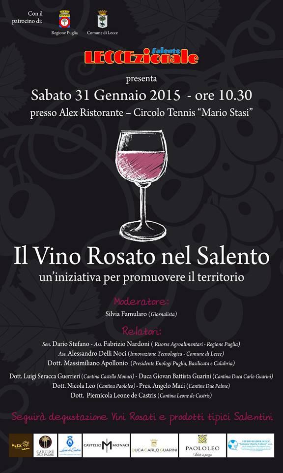 Il vino rosato nel Salento