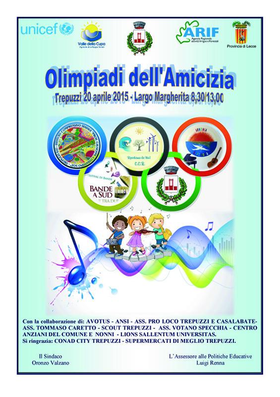 1 Manifesto Olimpiadi della Amicizia