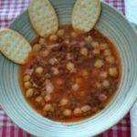 Zuppa ceci e pancetta