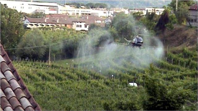 pesticidi elicottero
