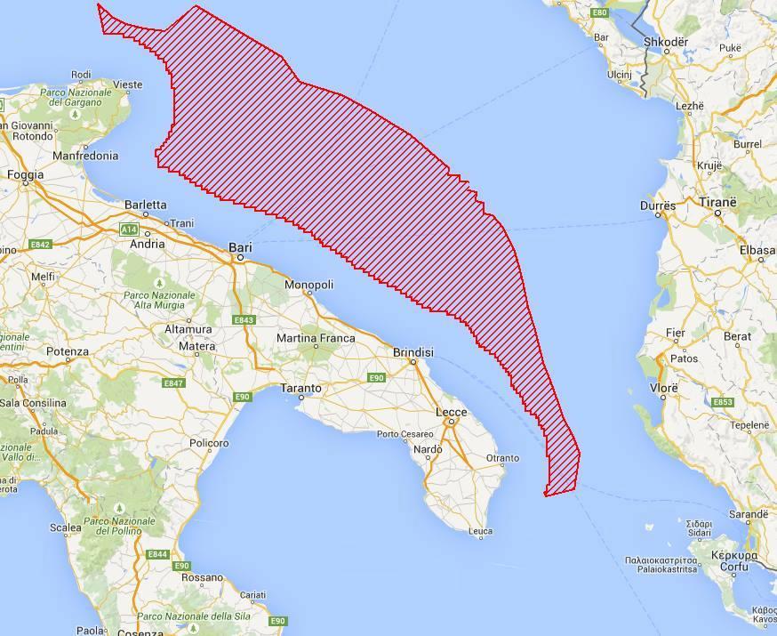 Area trivelle in mare