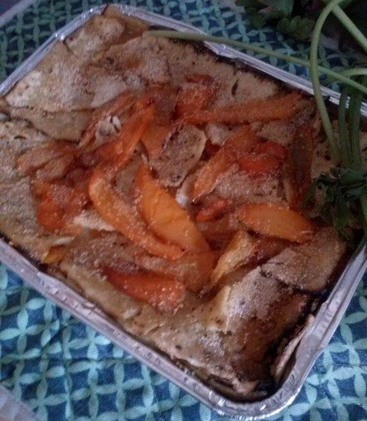 Lasagne di peperoni con pane carasau