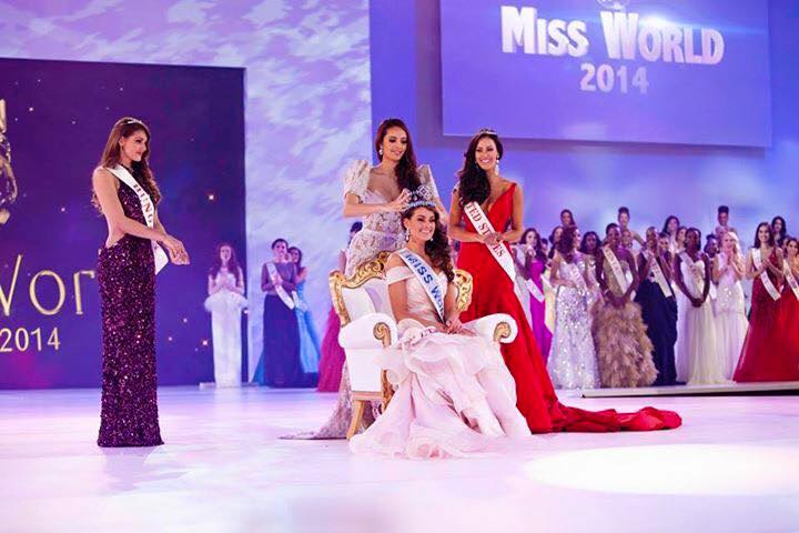 il podio di Miss World 2015
