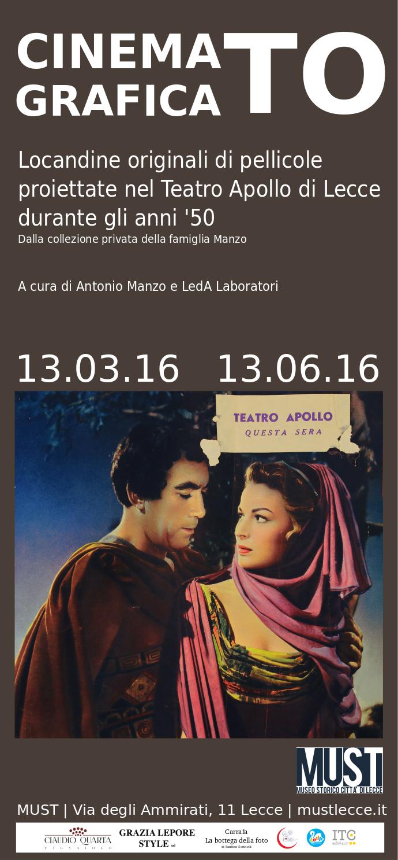 Amato CinematoGrafica: una mostra per le locandine dei film proiettati UN58