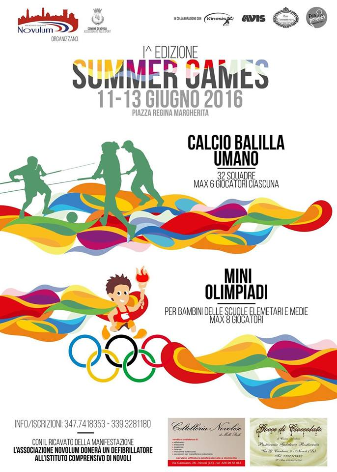 Summer Games 2016 a Novoli