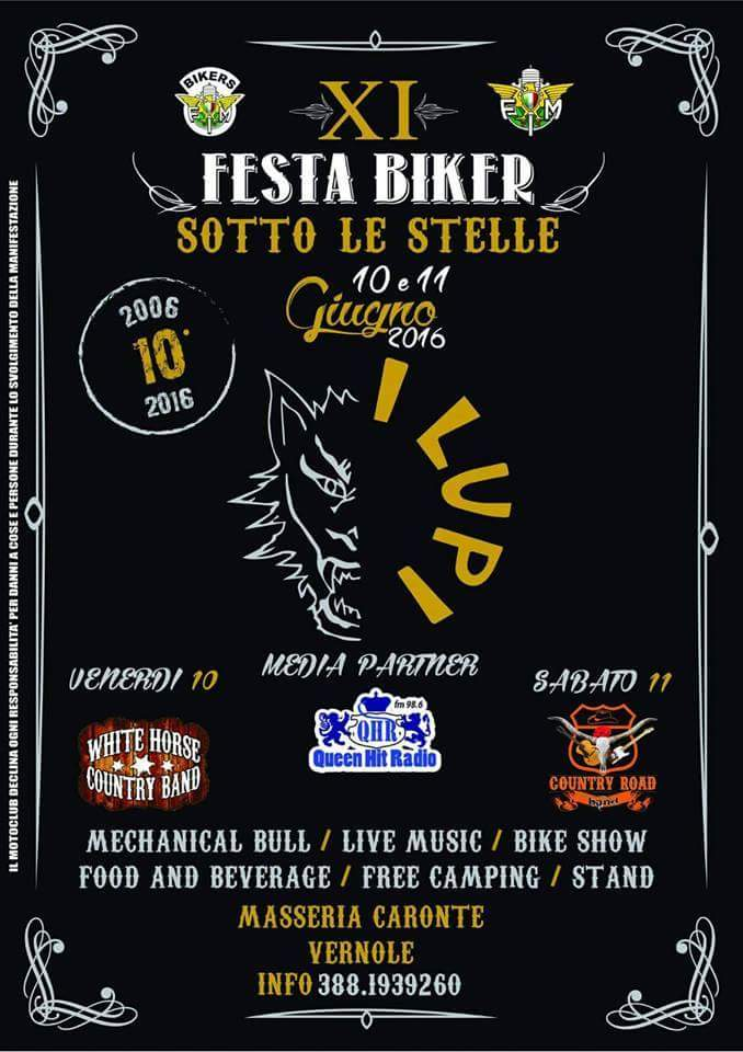 Locandina Festa Biker