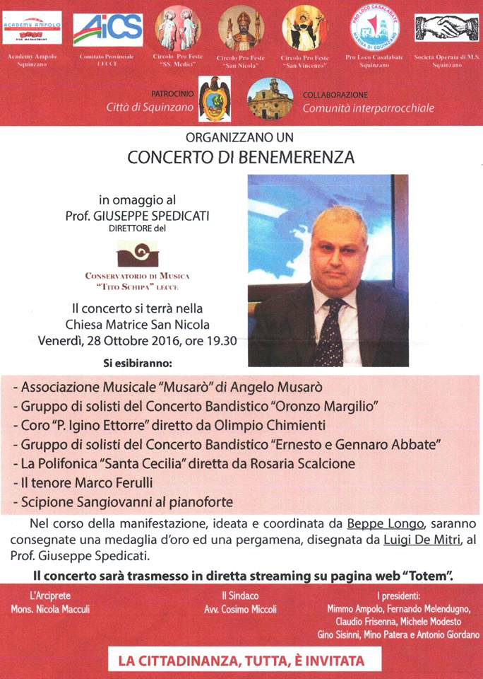 Locandina Concerto Benemerenza