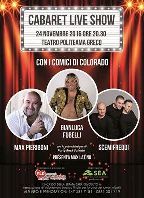 Locandina Cabaret Live